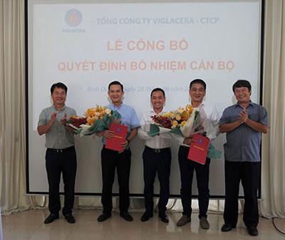 Tổng Công Ty Viglacera – CTCP Bổ Nhiệm Hai Tân Phó Tổng Giám đốc Tổng Công Ty