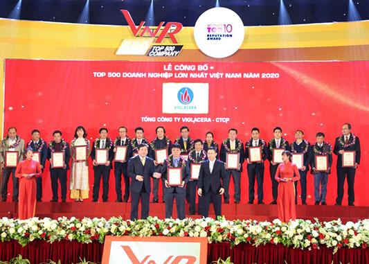 VNR500: Tổng Công Ty Viglacera – CTCP 3 Năm Liên Tiếp Giữ Vị Trí Dẫn đầu Trong Top 500 Doanh Nghiệp Lớn Nhất Việt Nam Trong Ngành Sản Xuất, Kinh Doanh Vật Liệu Xây Dựng